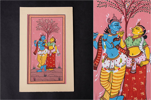 Patachitra Painting on Handmade Paper (9x5 inches)