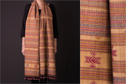 Kutch Embroidered Handwoven Traditional Fine Woolen Stole