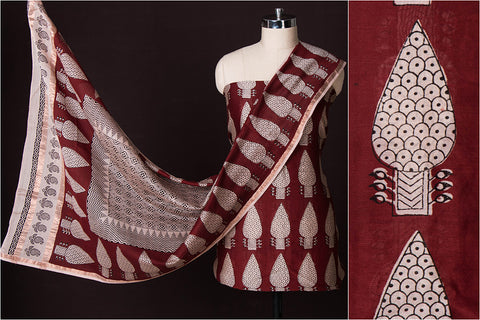 Handloom Chanderi Special Bagh Print 2pc Dress Material Set
