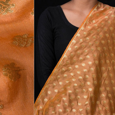 Traditional Pure Banarasi Silk Zari Buti Handloom Fabric