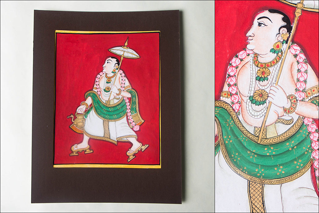 10in x 8in - Traditional Mysore Painting Kurmavathara