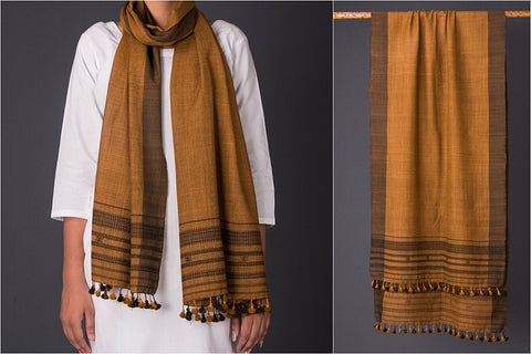 Pure Woolen Dhandhi Multi Fuman Stole from Kutch