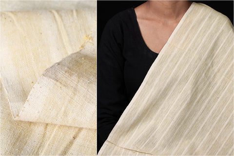 Malkha Cotton Pure Handloom Natural Dyed Fabric -Kora/Anar Yellow