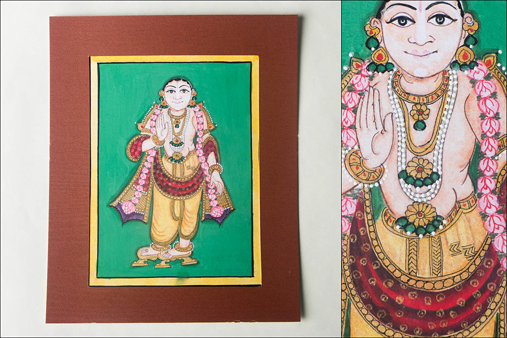 8in x 6in - Traditional Mysore Painting Buddhavathara