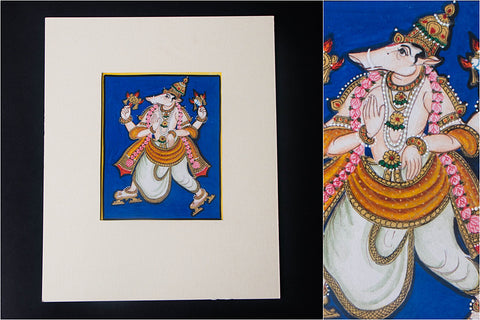 6in x 5in - Traditional Mysore Painting Varahavathara