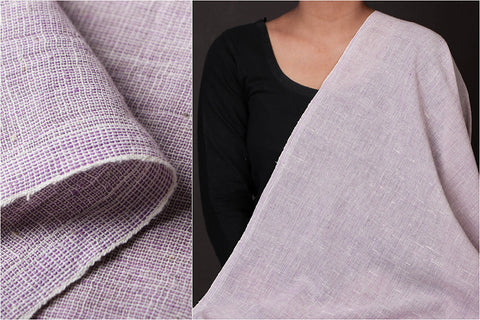 Organic Kala Cotton Purple White Stripe Fabric (Width - 44in)