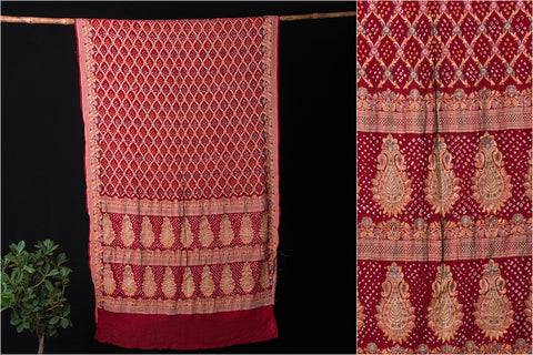 Pure Georgette Resam Jaal Work Traditional Bandhani Saree