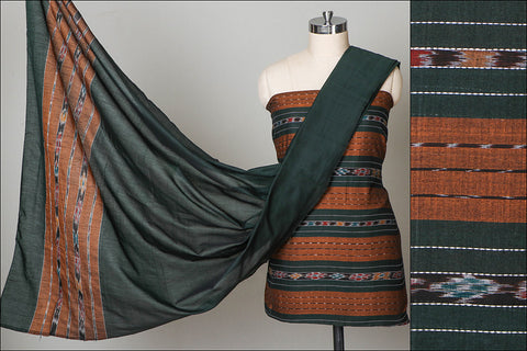Handwoven Sambalpuri Ikat Cotton 3-piece Suit Material Set