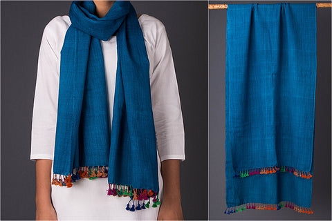 Pure Woolen Multi Fuman Stole from Kutch