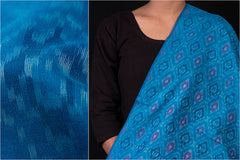 Pure Handwoven Pochampally Ikat Silk Cotton Fabric