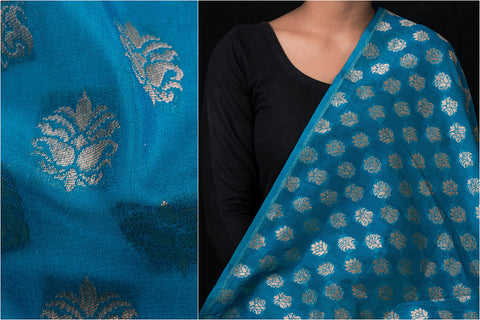 Traditional Pure Banarasi Handloom Silk Zari Buti Fabric