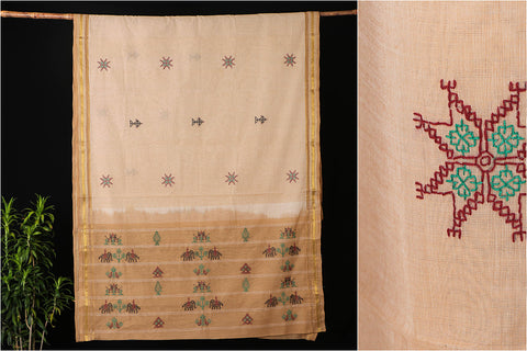 Mangalgiri Silk Cotton Kasuti Hand Embroidered Saree
