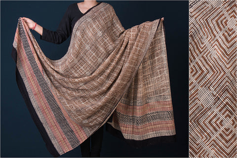 Traditional Buti Bagru Hand Block Printed Cotton Dupatta