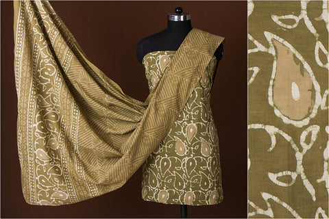 Traditional Buti Bagru Hand Block Printed Cotton 3pc Suit Material