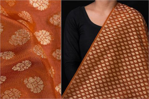 Traditional Pure Banarasi Silk Zari Buti Fabric