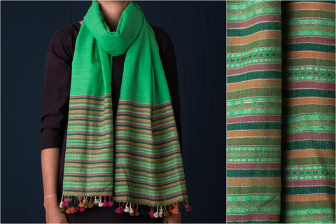 Pachedi Hand Embroidered Woolen Stole