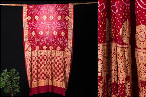 Pure Georgette Buta Work Traditional Bandhani Saree