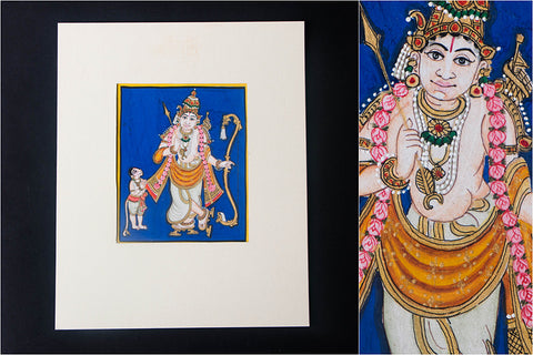 6in x 5in - Traditional Mysore Painting Sri Ramavathara