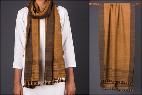 Pure Woolen Dhandhi Multi Fuman Stole from Kutch (Wool X Wool)
