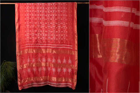 Sujangarh Nui Shibori Chanderi Silk Zari Saree with Blouse
