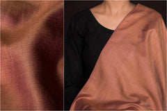 Brown - Vidarbha Handloom Tussar Cotton Fabric