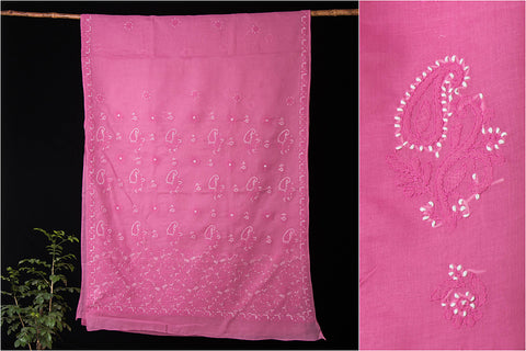 Lucknow Chikankari Hand Embroidered Cotton Saree