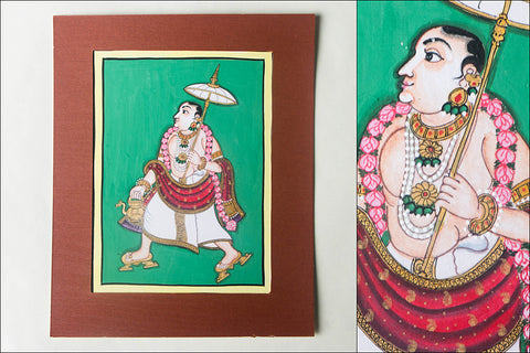 8in x 6in - Traditional Mysore Painting Vamanavathara