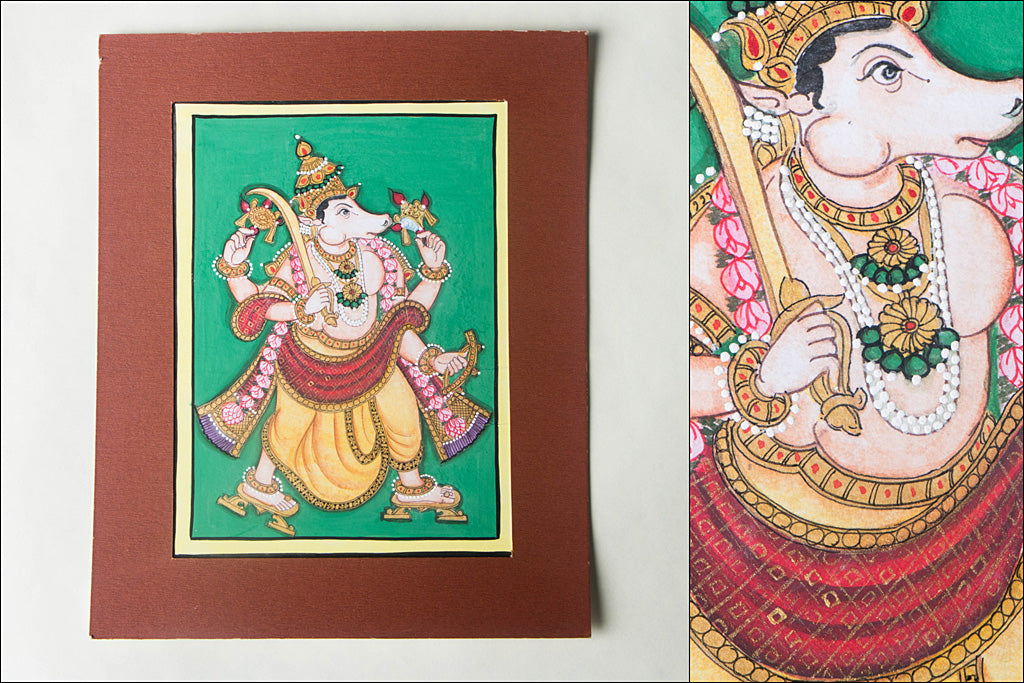 8in x 6in - Traditional Mysore Painting Kalkiavathara