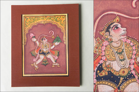 8in x 6in - Traditional Mysore Painting Hanuman God