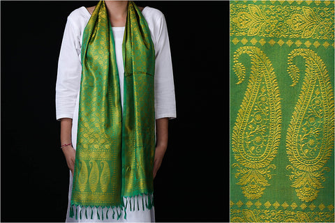 Traditional Banarasi Handwoven Pure Silk Stole