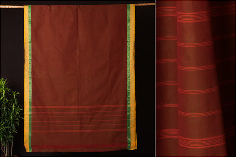 Traditional Chettinad Kandaangi Pure Cotton Saree with Blouse from Tamil Nadu