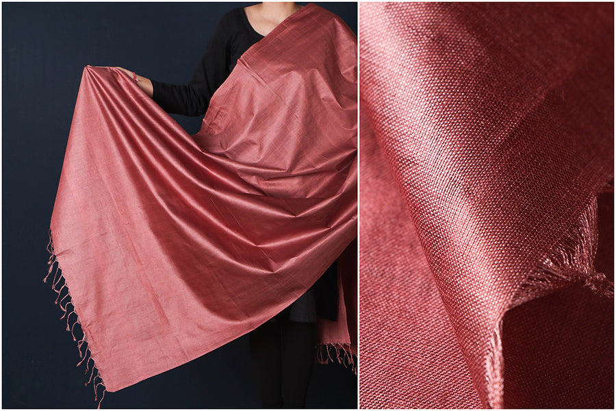 Copper - Vidarbha Tussar Cotton Handloom Dupatta