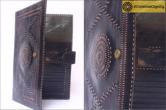 Handcrafted Kutch Leather Wallet with Intricate Cutwork and Embossing by Anchal Bijlani