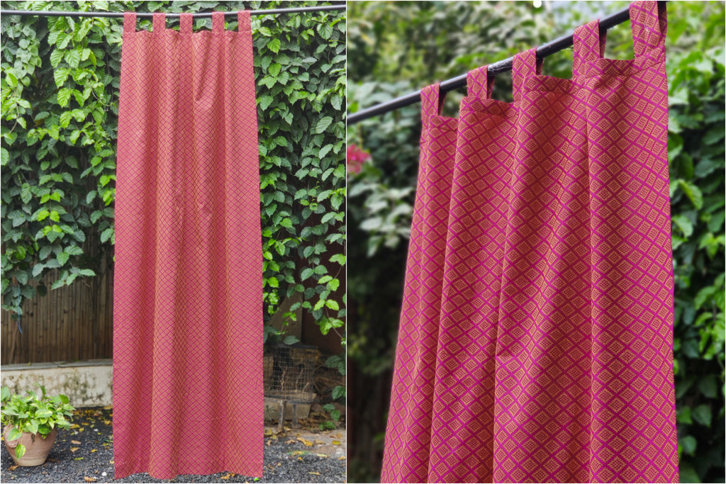Jacquard Pure Cotton Fabric Door Curtain (214 x 109 cm)
