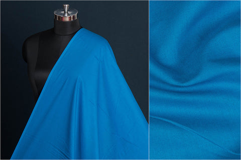 Royal Blue - Pre Washed Plain Pure Cotton Fabric (Width - 44in)