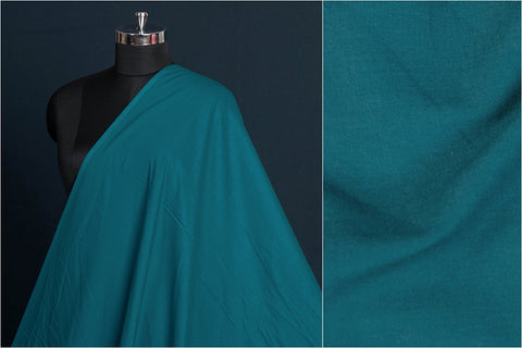 Rama Green - Pre Washed Plain Pure Cotton Fabric (Width - 44in)