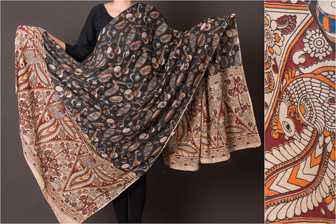 Kalamkari Printed Cotton Dupatta