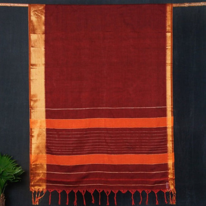 Dharwad Pure Handloom Cotton Saree with Woven Border
