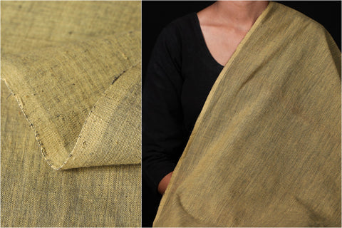 Malkha Cotton Pure Handloom Natural Dyed Fabric -Anar Yellow