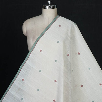 Mangalgiri Jamdani Buti Pure Handloom Cotton Fabric