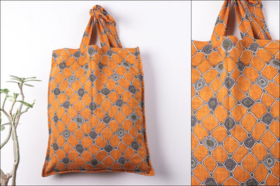 Special Jaipur Screen Printed Cotton Fabric Shopping Bag