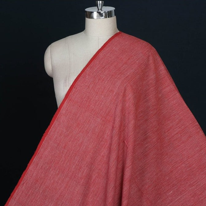 Alizarin Red - Malkha Pure Handloom Cotton Natural Dyed Fabric