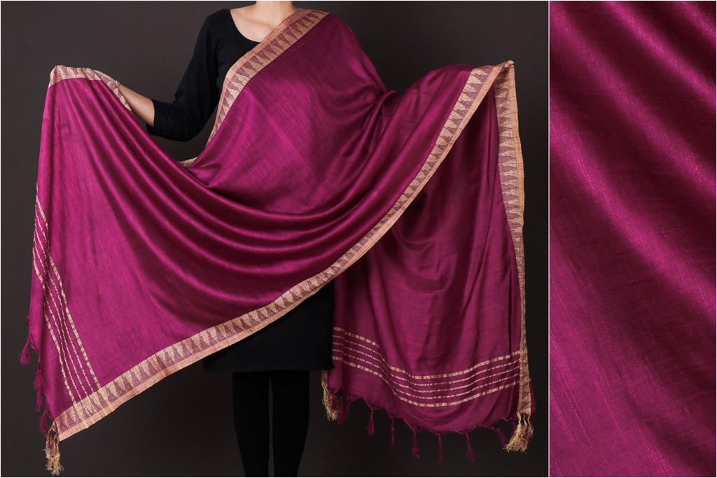 Fandango - Mulberry Silk Handloom Dupatta with Tassels