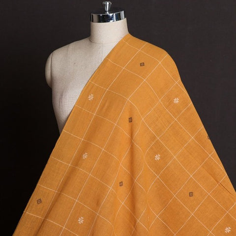 Organic Kala Cotton Pure Handloom Checks Buti Fabric
