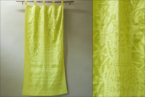 Barmer Applique Queen Cut Work Door Curtain (7 x 3.5 feet)