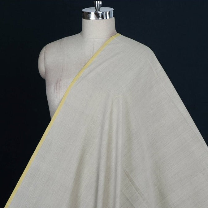 Slate White - Malkha Pure Handloom Cotton Natural Dyed Fabric