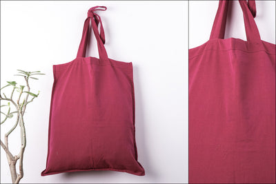Plain Cotton Handloom Fabric Shopping Bag