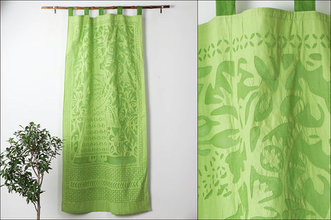Barmer Applique King Cut Work Door Curtain (8.6 x 3.5 feet)