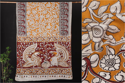 Kalamkari Printed Silk Cotton Saree with Blouse