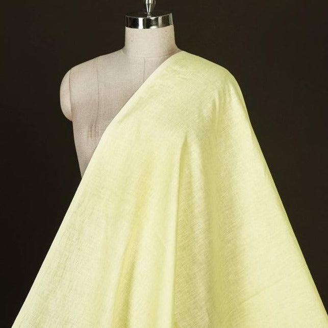 Light Yellow - Handwoven Pure Linen Fabric from Bhagalpur